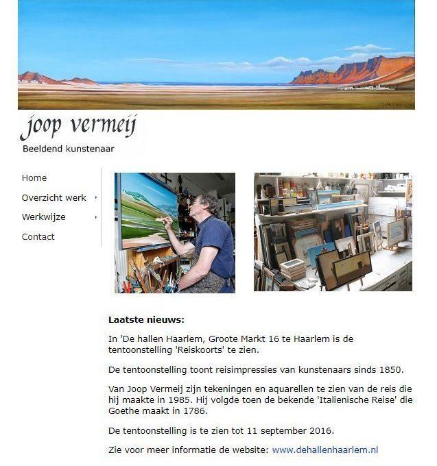 Joop Vermeij, kunstenaar uit Santpoort-Noord